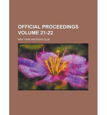 Official Proceedings Volume 21-22