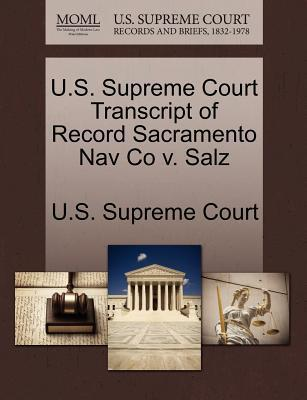 U.S. Supreme Court Transcript of Record Sacramento Nav Co V. Salz
