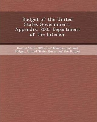 Budget Of The United States Government Appendix Diktys Stratakis 9781248982006