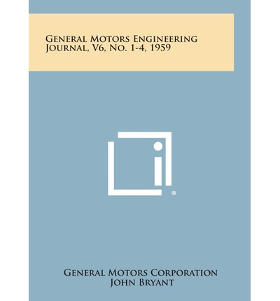 General motors engineering journal v6 no 1 4 1959 for General motors company profile