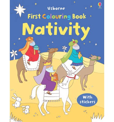The First Colouring Book: Nativity