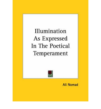 Illumination as Expressed in the Poetical Temperament