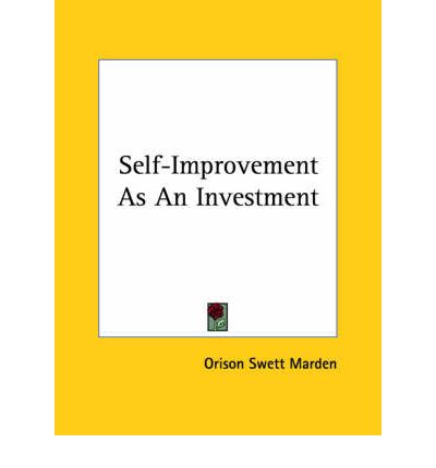 Self-Improvement as an Investment
