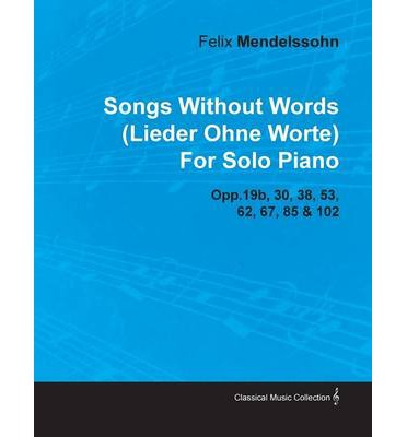 mendelssohn song without words piano pdf