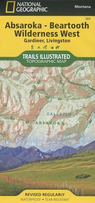 Absaroka - Beartooth Wilderness West, Montana Topographic Map : Gardiner, Livingston