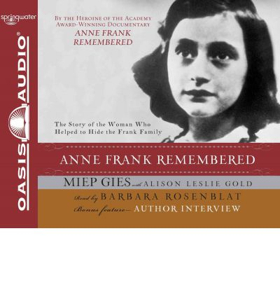 anne frank remembered Other information: total number of members who have this title in their: collection: 38 wish list: 10 there are no labels for this title.