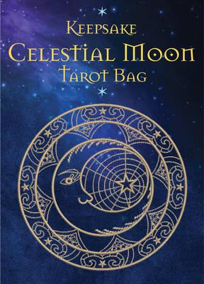 Celestial Moon Tarot Bag : Luxury Velvet Drawstring Tarot or Oracle Bag