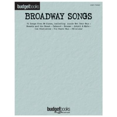 Budgetbooks : Broadway Songs (Easy Piano)