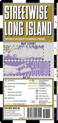 Streetwise Long Island Map - Laminated Regional Road Map of Long Island, New York