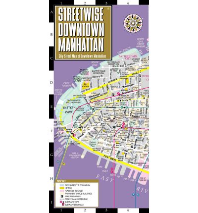 Streetwise Downtown Manhattan Map - Laminated City Street Map of Downtown Manhattan