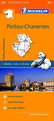 Ebook download gratuito italiano Michelin Regional Maps: France : Poitou-Charentes Map 521 in italiano CHM