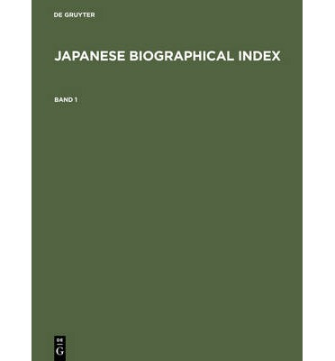 Japanese Biographical Index