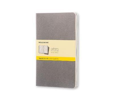 Moleskine Pebble Grey Squared Cahier Large Journal
