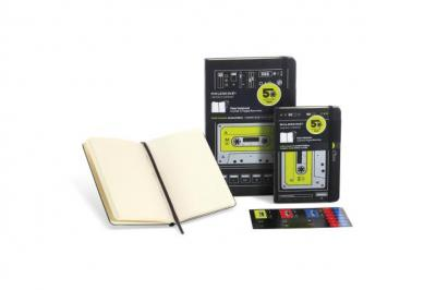 Moleskine Hard Audiocassette Plain Notebook Pocket