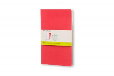 Moleskine Volant Journal (Set of 2), Large, Plain, Geranium Red, Scarlet Red, Soft Cover (5 X 8.25)
