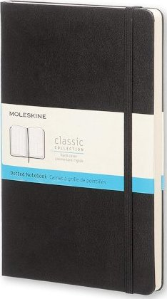 Moleskine Large Dotted Notebook Hard Black by Moleskine