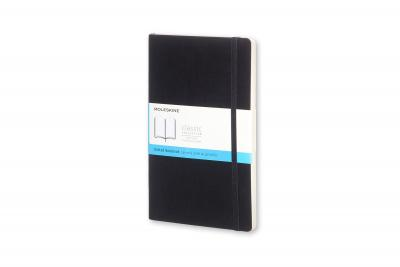 Moleskine Classic Notebook, Large, Dotted, Black, Soft Cover (5 X 8.25)
