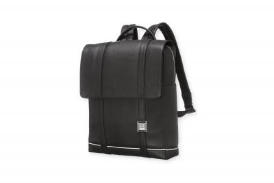 Moleskine Lineage Leather Backpack Blk