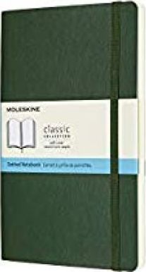 Moleskine Notebook, Large, Dotted, Myrtle Green, Soft Cover (5 X 8.25)
