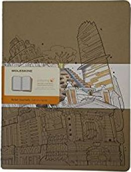 Moleskine Coloring Cover Cahier, Extra Large, Ruled, Kraft Brown, Soft Cover (7.5 X 10)