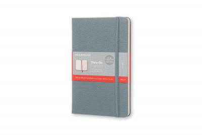 Moleskine Two-Go Notebook Medium Ruled-Plain Saxe Blue