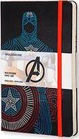 Moleskine the Avengers Limited Edition Notebook, Large, Ruled, Black, Captain America, Hard Cover (5x8.25)