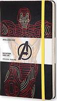 Moleskine the Avengers Limited Edition Notebook, Large, Ruled, Black, Ironman, Hard Cover (5 X 8.25)