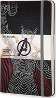 Moleskine the Avengers Limited Edition Notebook, Large, Ruled, Black, Thor, Hard Cover (5 X 8.25)