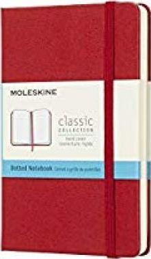 Moleskine Classic Notebook, Pocket, Dotted, Red Scarlet, Hard Cover (3.5 X 5.5)