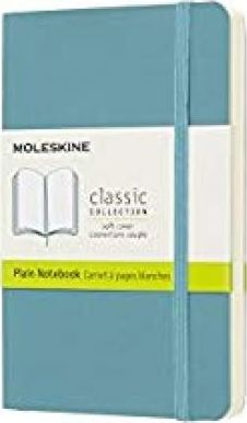 Moleskine Classic Notebook, Pocket, Plain, Blue Reef, Soft Cover (3.5 X 5.5)