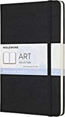 Moleskine Art Collection Watercolour Notebook, Large, Plain, Black, Hard Cover (5 X 8.25)