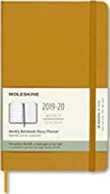 Moleskine 2019-20 Weekly Planner, 18m, Large, Ripe Yellow, Hard Cover (5 X 8.25)