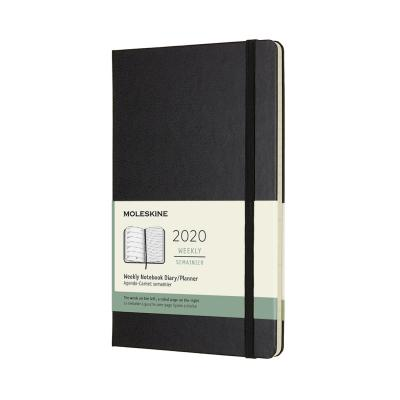 Moleskine 2020 Weekly Planner,12m, Large, Black, Hard Cover (5 X 8.25)