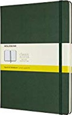 Moleskine Notebook, Extra Large, Squared, Myrtle, Green, Hard Cover (7.5 X 9.75)