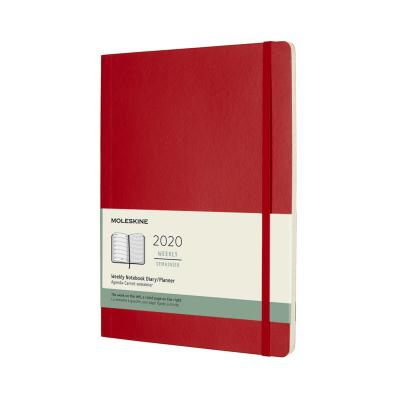 Moleskine 2020 Weekly Planner, 12m, Extra Large, Scarlet Red, Soft Cover (7.5 X 9.75)