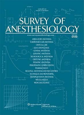 Sj Survey of Anesthesiology