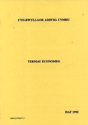 Dictionary of Economic Terms in Welsh