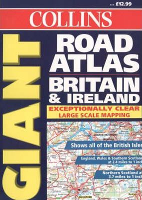 Collins Giant Road Atlas Britain and Ireland