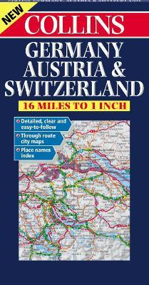 Germany, Austria and Switzerland Road Map : Harper Collins ...