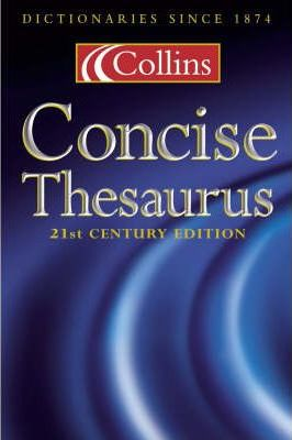 Collins Concise Dictionary: Thumb-indexed