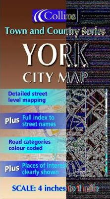 Collins Town and Country Map: York