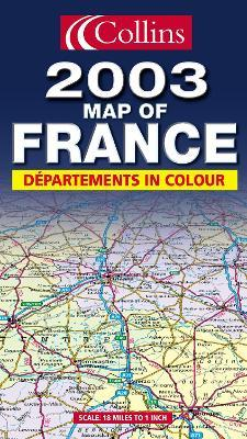 Map of France 2003