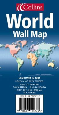 World Wall Map: Atlantic Centred