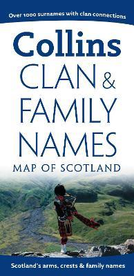 Clan and Family Names Map of Scotland