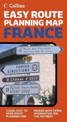 Collins Easy Route Planning Map France