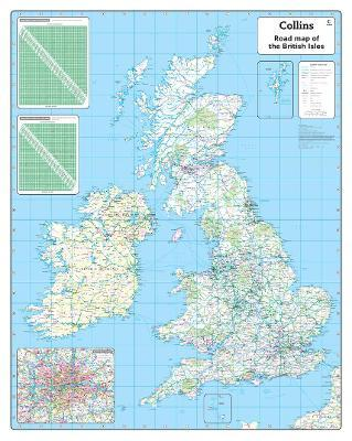 British Isles Road Wall Map