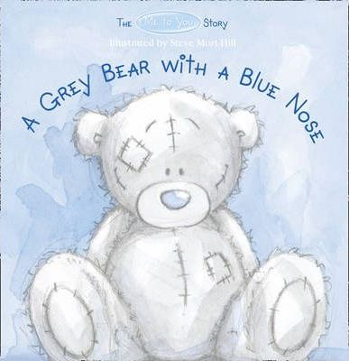 A Grey Bear with a Blue Nose