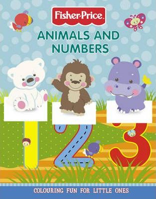 Animals and Numbers Colouring Book