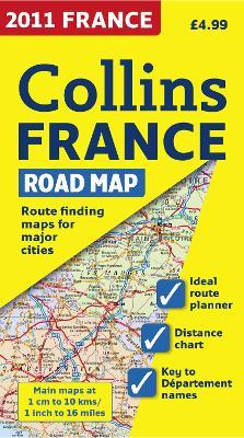 2011 Collins Map of France