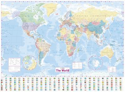 Collins World Wall Laminated Map Collins Maps 9780007493104